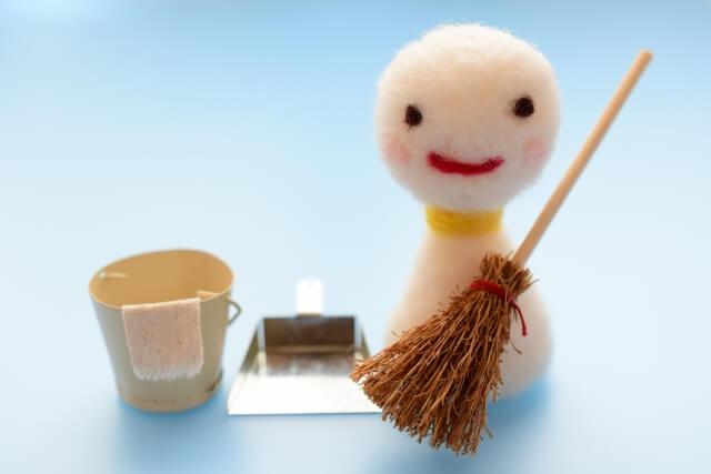 掃除道具の模型
